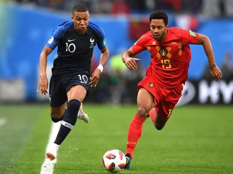צרפת נגד בלגיה (צילום: AFP)