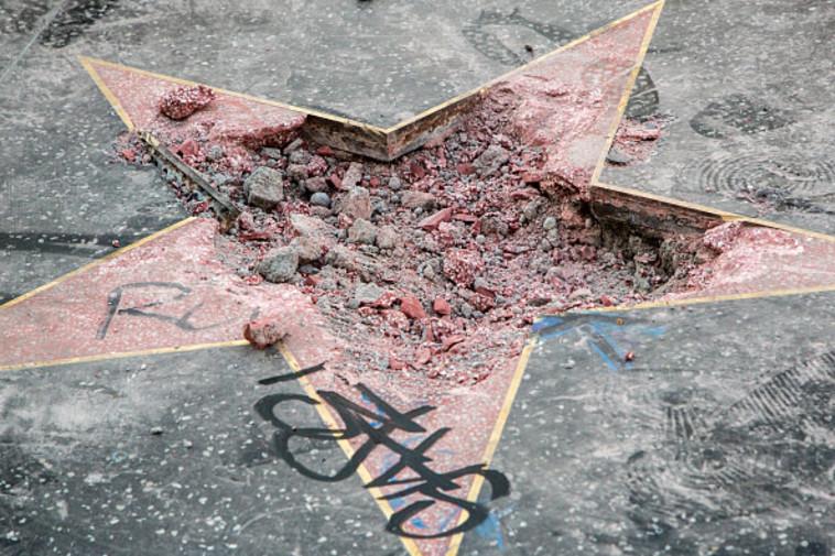 הכוכב המנותץ של טראמפ. צילום: GETTI IMAGES