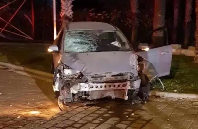 """הרכב הפוגע. צילום: מד""""א"""