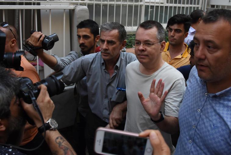 הכומר האמריקאי אנדרו ברנסון בטורקיה. צילום: רויטרס