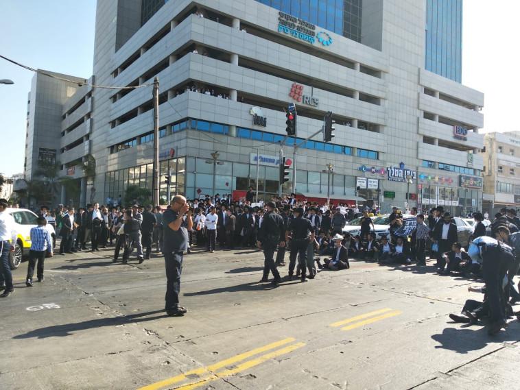 המחאות בבני ברק. צילום: מחאת החרדים