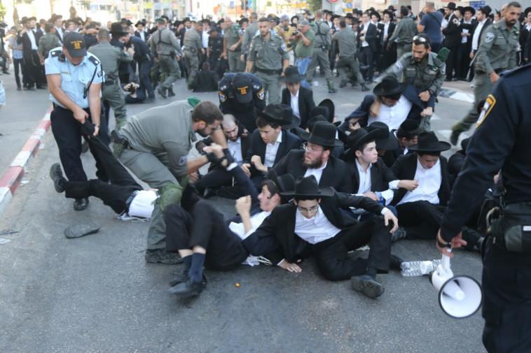 מעצרים בבני ברק. צילום: אבשלום ששוני