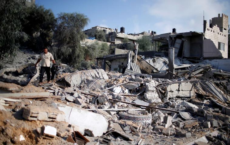 """הרס בעזה לאחר הפצצות צה""""ל. צילום: רויטרס"""