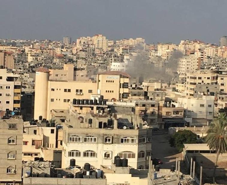 תקיפה בעזה. צילום: רשתות ערביות