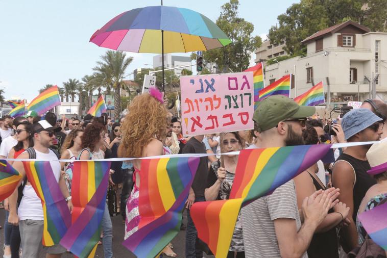 מחאת הפונדקאות של קהילת הלהט''ב (צילום: אבשלום ששוני)