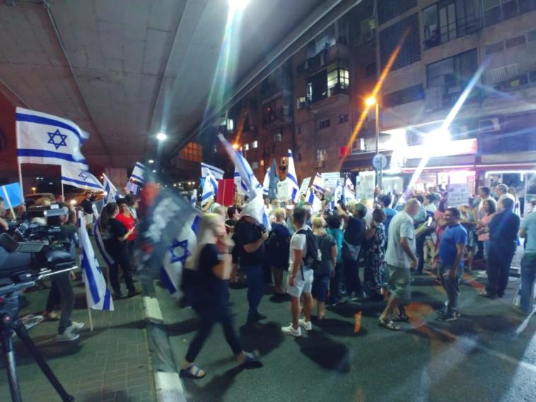 הפגנה בדרום תל אביב (צילום: עוטף תחנה מרכזית)