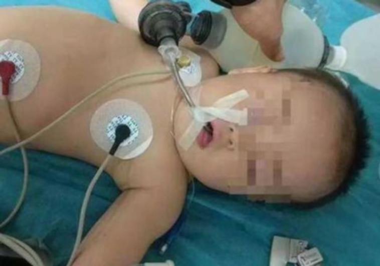 שיאוואי בבית החולים. צילום מסך דרך כלי התקשורת בסין