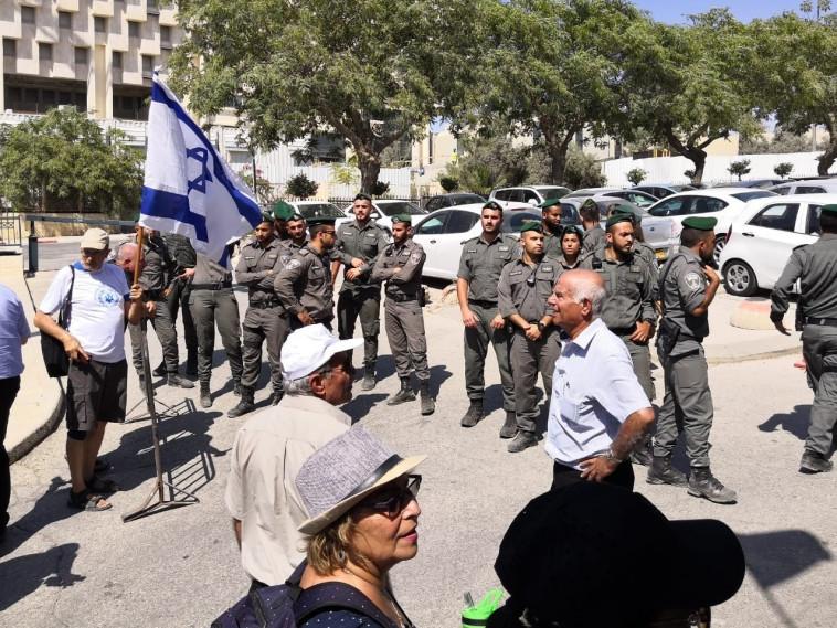 הפגנת גמלאי כוחות הביטחון. צילום: יניר קוזין