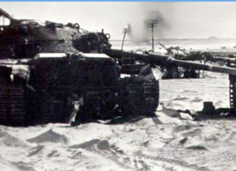 הטנק בו נלחם ונפגע ירון פיק במלחמת יום הכיפורים (צילום: מרכז תיעוד נט''ל)