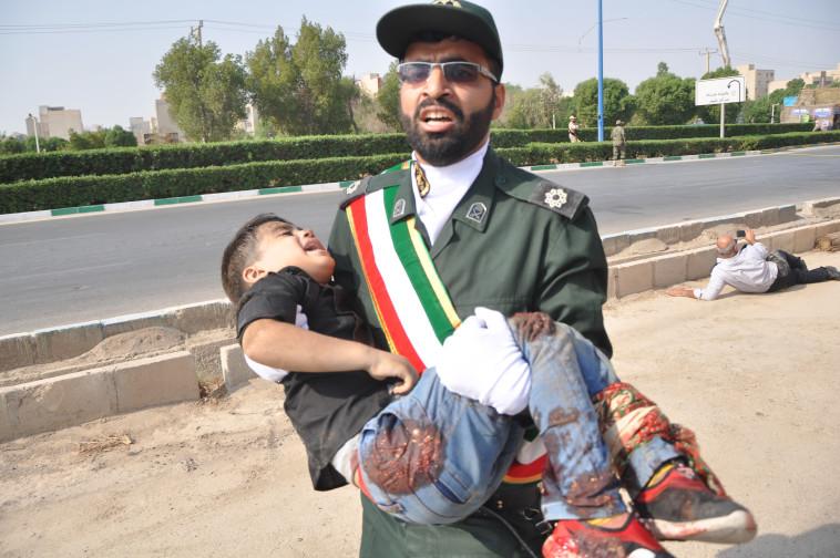 הפיגוע באיראן. צילום: AFP