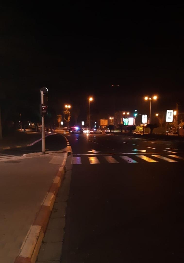זירת התאונה בתל אביב בה היה מעורב יצחק אספה. צילום: מרים אלסטר, פלאש 90
