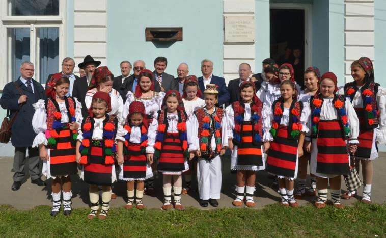 הטקס מול ביתו של אלי ויזל, צילום: יוסי זלינגר