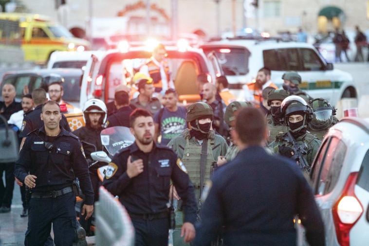 ירושלים לאחר פיגוע הדקירה בשער שכם, יוני 2017. צילום: יונתן זינדל, פלאש 90