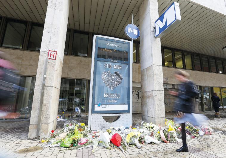 """""""הייתה בעיר הרגשה שהחיים הופסקו"""". בריסל לאחר הפיגוע בשדה תעופה, מרץ 2016. צילום: רויטרס"""