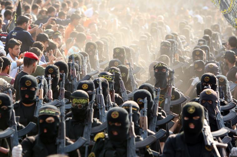 מחבלי הג'יהאד האסלאמי. צילום: רויטרס