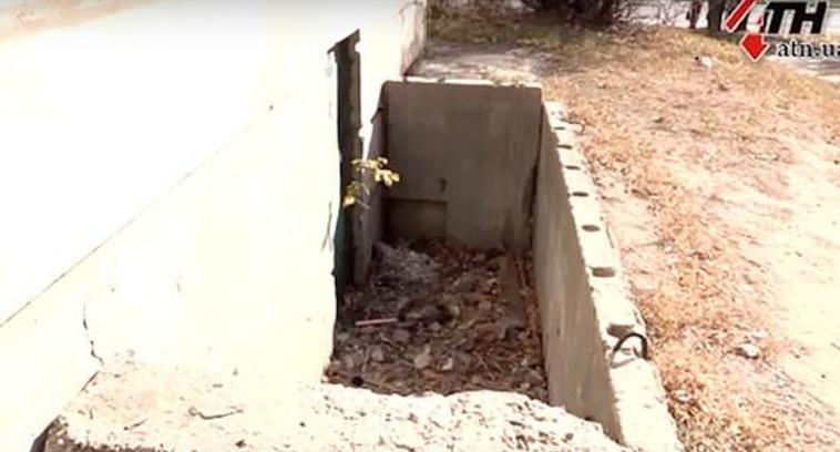 המקום בו נמצאה הגופה. צילום מסך: כלי התקשורת הרוסיים