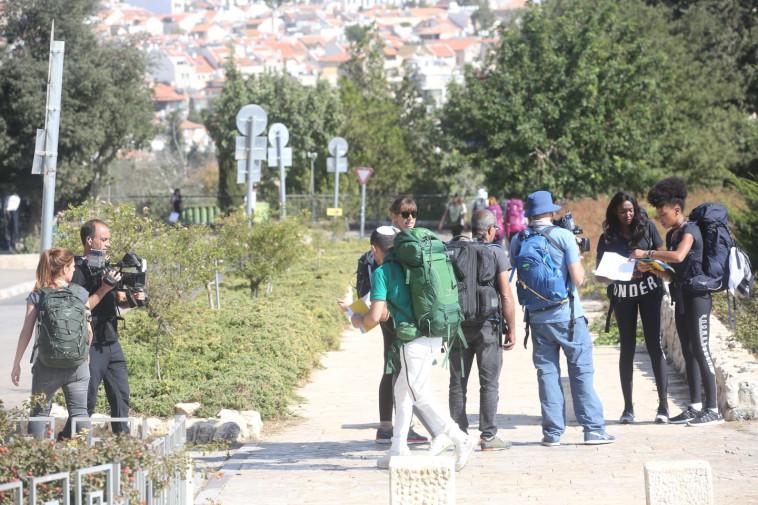"""משכן הכנסת, צילומי """"המירוץ למיליון"""" . צלם: מרק ישראל סלם"""