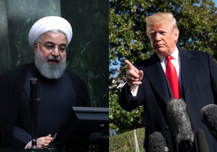 דונלד טראמפ וחסן רוחאני. צילום: AFP