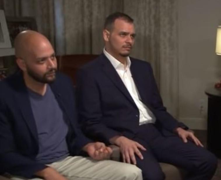 בניו של ג'מאל חשוקג'י בריאיון ל-CNN. צילום מסך