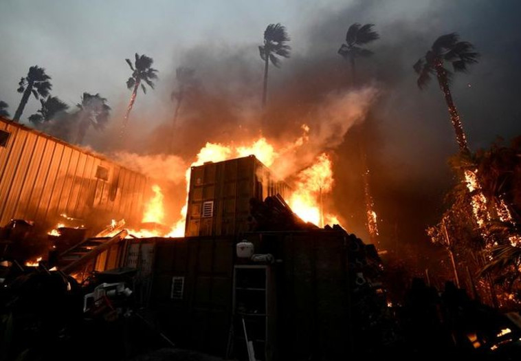 השריפות בקליפורניה. צילום: רויטרס