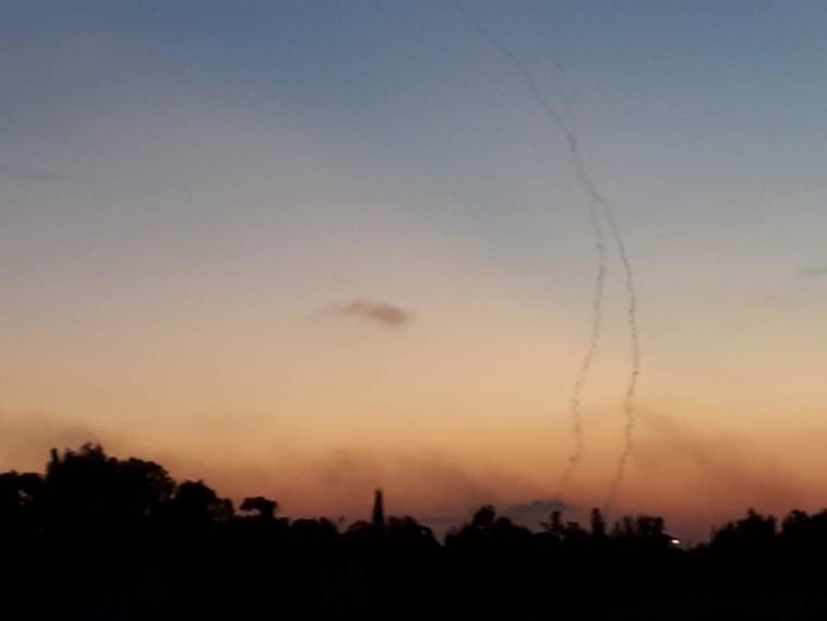 שיגורי הרקטות באזור עוטף עזה, צילום: אבישי גרינצייג