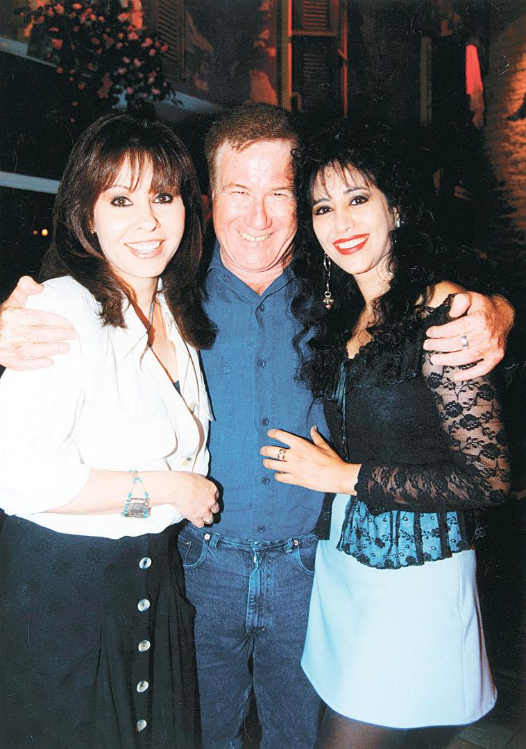 שנת 1995 ירדנה ארזי, עופרה חזה, אהוד מנור (צילום: שלומי בוצ'צ'ו)