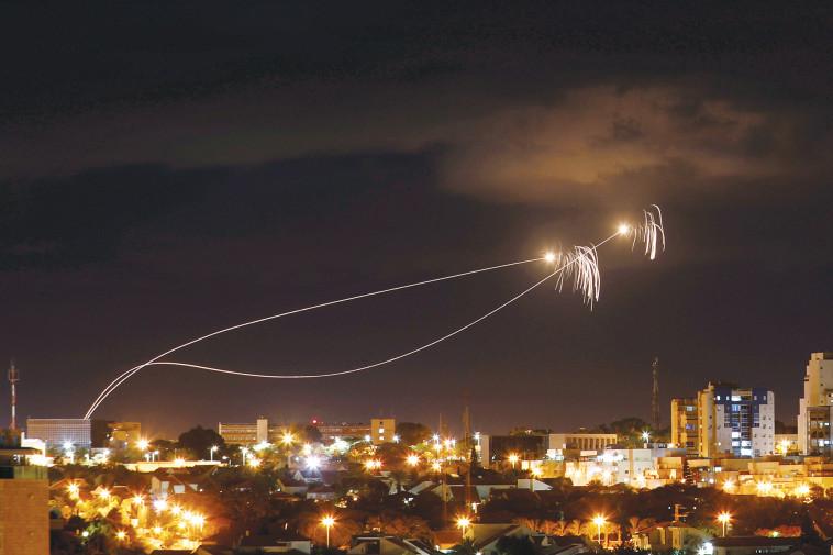 רקטות לעוטף עזה. צילום: רויטרס