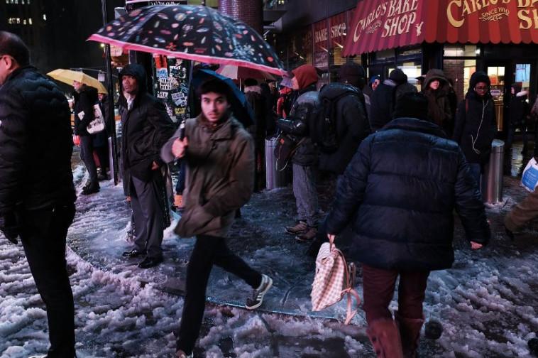 סופת השלגים בניו יורק. צילום: AFP
