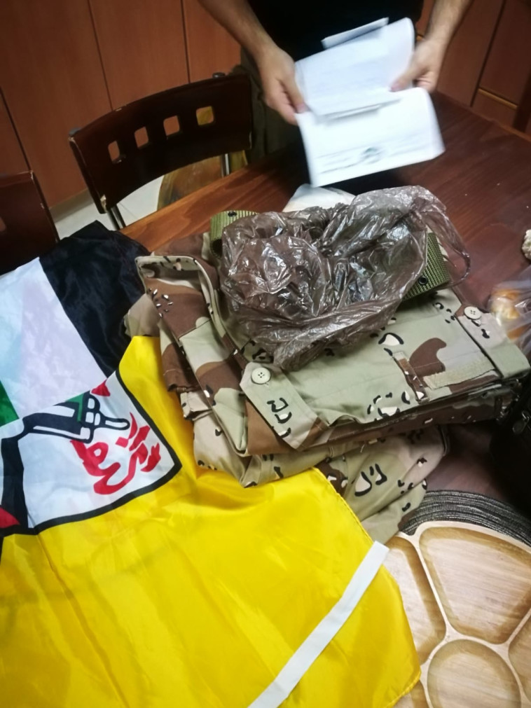 ציוד המתגייסים למנגנוני הביטחון הפלסטינים. צילום: דוברות המשטרה
