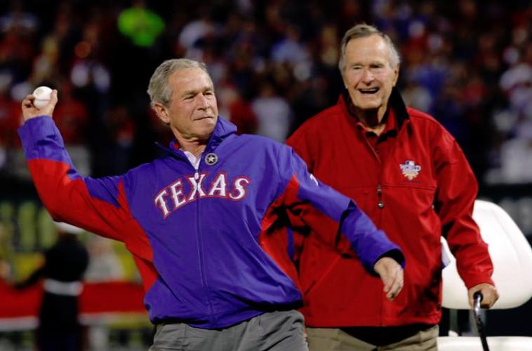 ג'ורג בוש האב וג'ורג בוש הבן. צילום: רויטרס