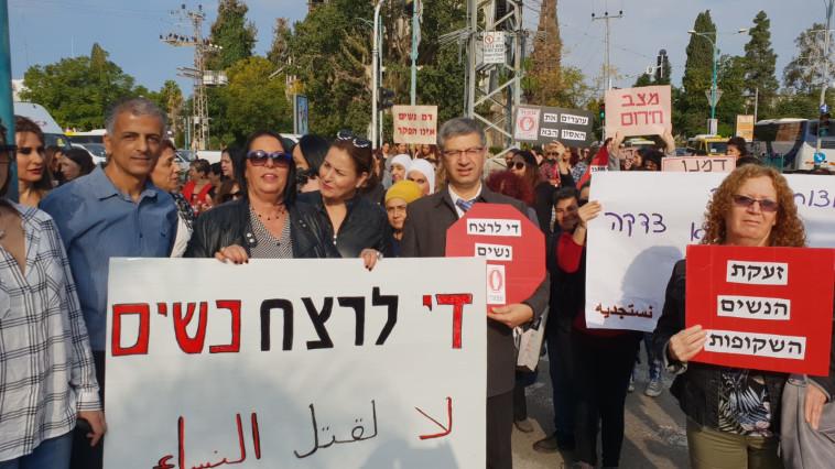 מחאת הנשים ברמלה. צילום: דוברות עיריית רמלה