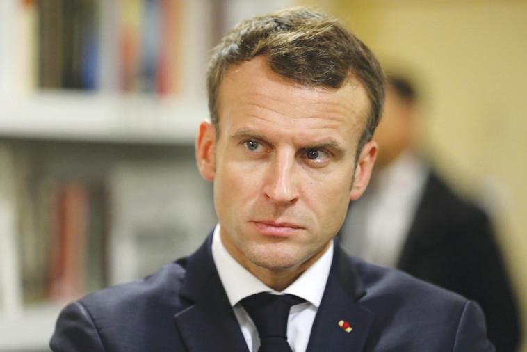 נשיא צרפת עמנואל מקרון. צילום: AFP