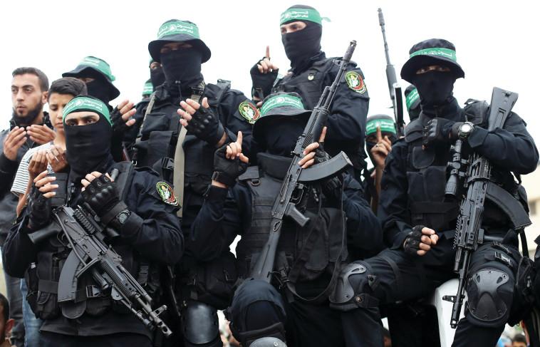 הזרוע הצבאית של חמאס. צילום: רויטרס