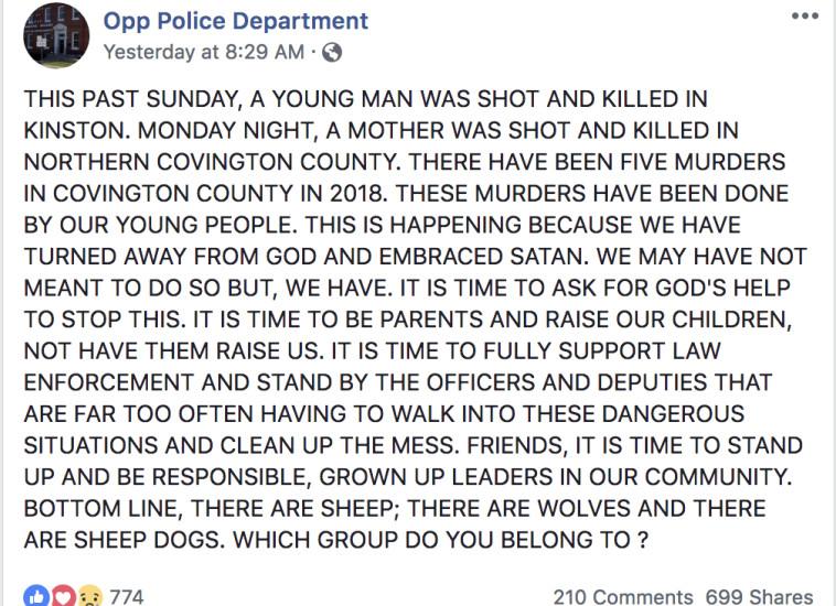 הפוסט שעורר מהומה. צילום: פייסבוק