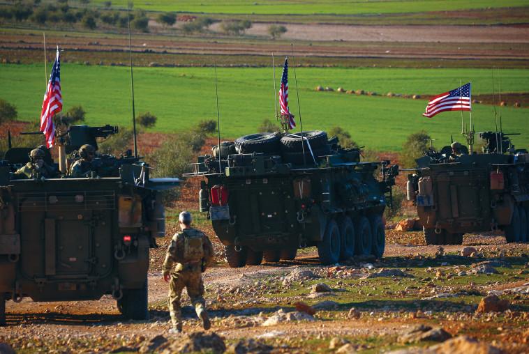 הכוחות האמריקאים בסוריה. צילום: AFP