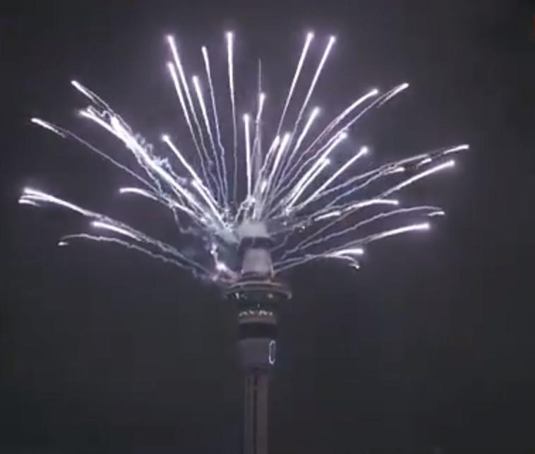 חגיגות השנה החדשה באוקלנד, ניו זילנד. צילום: צילום מסך