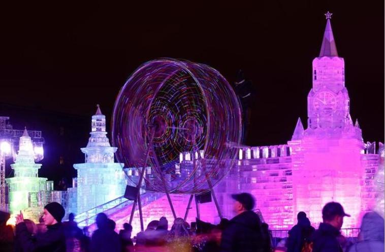 חגיגות השנה האזרחית החדשה במוסקבה. צילום: רויטרס