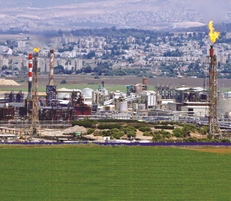 מפעלים במפרץ חיפה (צילום: שי לוי, פלאש 90)