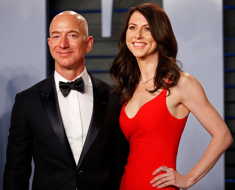 ג'ף בזוס ואשתו מקנזי. צילום: רויטרס