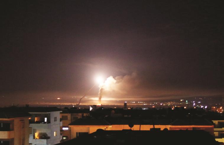 תקיפה בסוריה. צילום: רויטרס