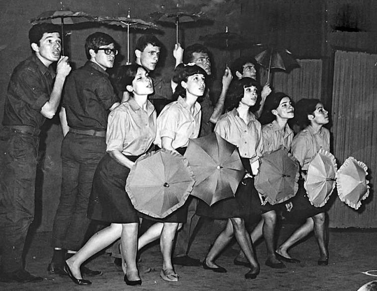 """להקת הנח""""ל 1967. צלם : אלבום פרטי"""