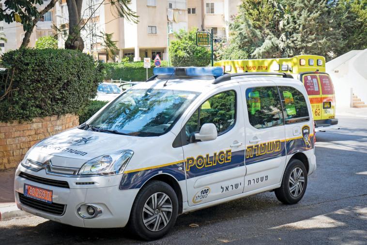 ניידת משטרה (צילום: רועי אלימה, פלאש 90)
