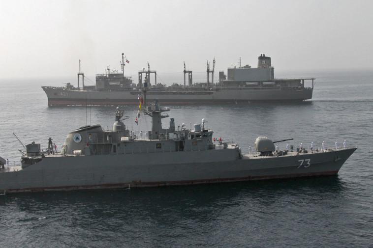 תרגיל של חיל הים האיראני. צילום: AFP