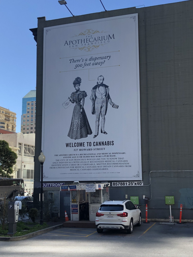 שלט חוצות, חנות לממכר קנאביס, סן פרנסיסקו.