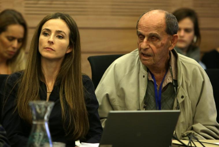 מירב כהן וקשיש (צילום: אורן בן חקון)