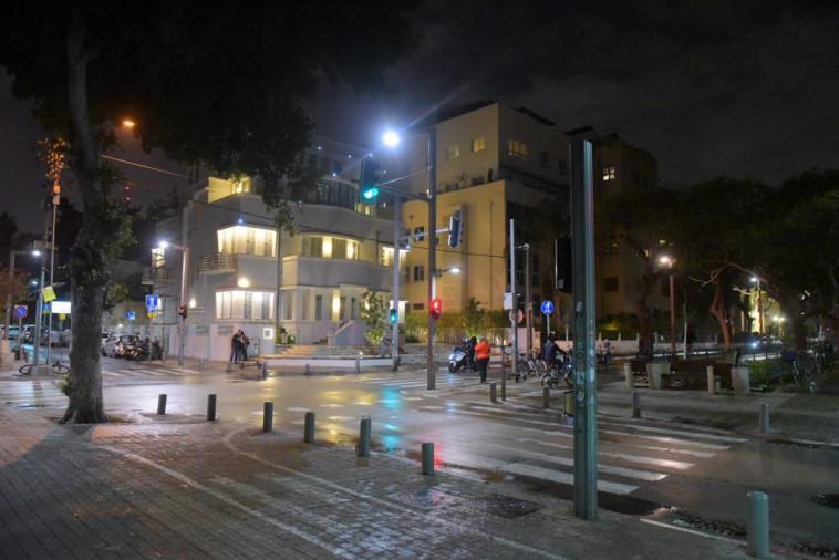 תל אביב במהלך האזעקה, צילום: אבשלום ששוני