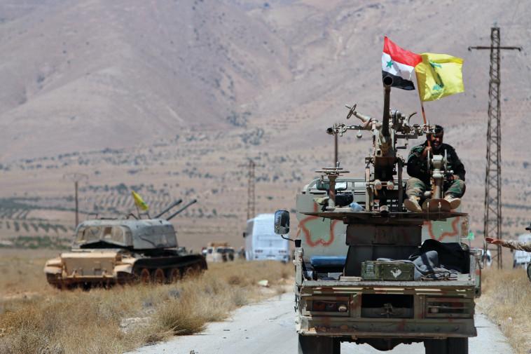 האיום החמור ביותר - מלחמה בצפון. כוח חיזבאללה בסוריה. צילום: רויטרס