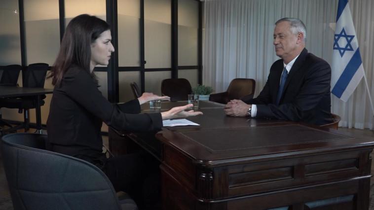 """הראיון של בני גנץ בכאן 11 . באדיבות """"כאן 11"""""""
