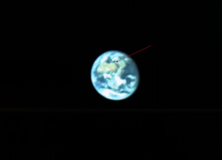 כדור הארץ כפי שהחללית בראשית רואה אותו. צילום: בראשית