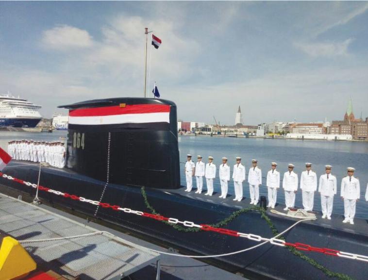 טקס מסירת צוללת לחיל הים המצרי בקיל, גרמניה, אוגוסט 2017 (צילום: AFP)